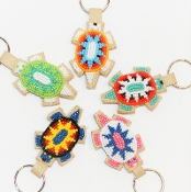 Beaded Turtle Keychain by Sherman Bear Ribs, Lakota